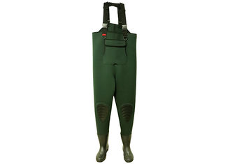 China Comfortable Mens Neoprene Fishing Waders 5mm With Reinforced Kneepads supplier