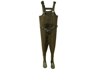 China Fly Neoprene Fishing Waders Warm Customized Eco Friendly In Green Color supplier