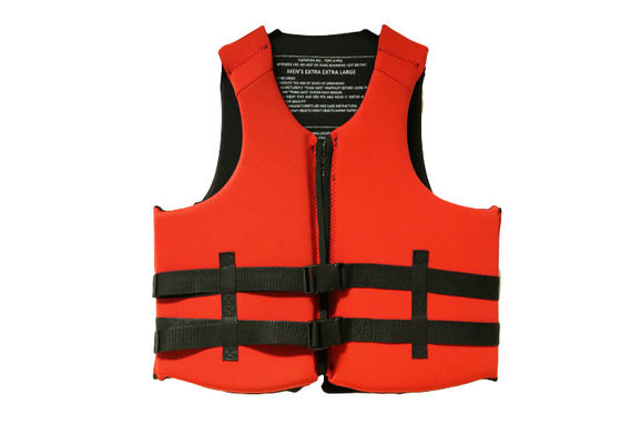 China Kayak Neoprene Sport Life Jackets Floating Red Color Adult Size SGS Listed supplier
