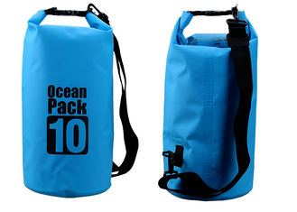 China Outdoor Activities 10l Dry Storage Bags Watertight With Shoulder Strap supplier