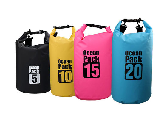 China Custom Printed Roll Top Dry Bag Waterproof Multi Color For Cycling Hiking supplier