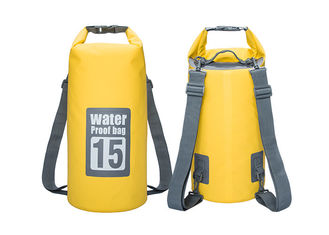 China Traveling Kayak Dry Gear Bag Yellow Color 21 X 56 Cm With Handle Strap supplier
