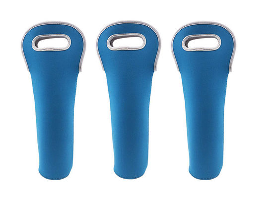 China Blue Personalised Bottle Holder 3.5 Mm Neoprene For Champagne / Wine Bottles supplier