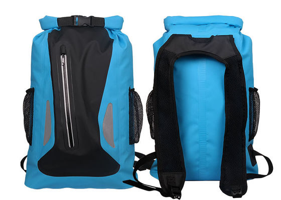 China Watertight Blue Dry Bag Backpack With Silkscreen Printing Custom Logo supplier