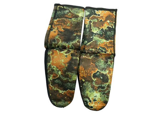 Professional Cr Neoprene Scuba Fin Socks Elastic Camouflage Color For Adult