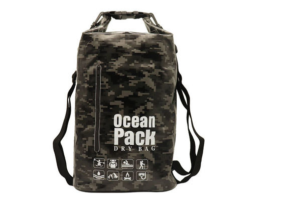 Rafting Pvc Small Dry Bag Backpack For Water Sports Black Camouflage Color b3e7060b0eaeb