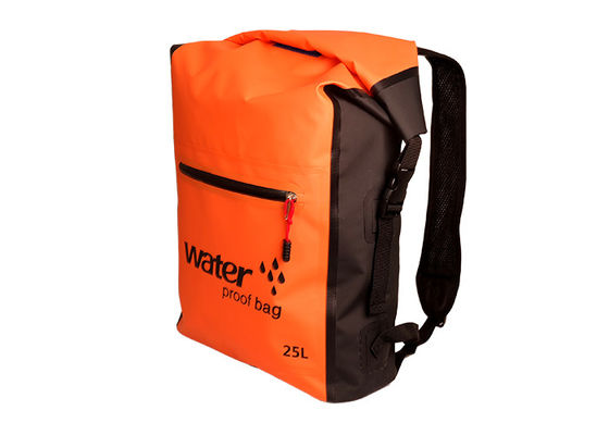 Military Kayak Orange Dry Bag Daypack Customized Size With Two Straps