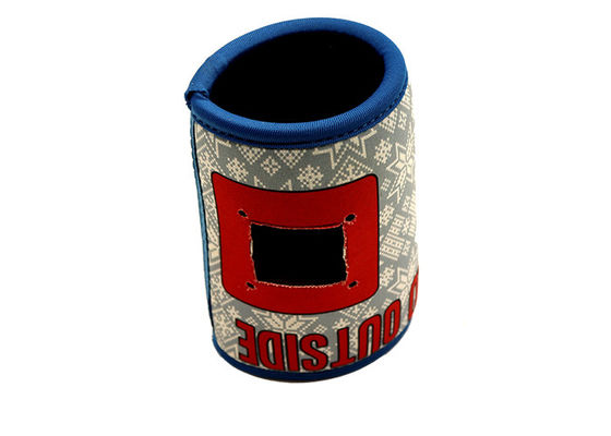 Non Collapsible Neoprene Promotional Products 12oz Neoprene Can Coolers