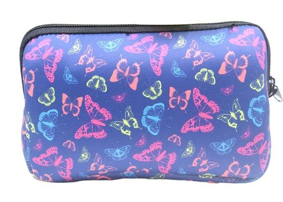 Sublimation Soft Zippered Makeup Pouch , Pantone Color Lightweight Cosmetic Bag