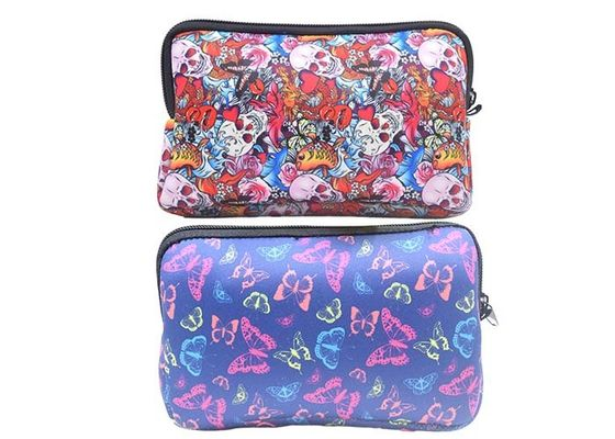 Beautiful Zippered Cosmetic Bag Soft Neoprene 23 X 14cm For Women Girls
