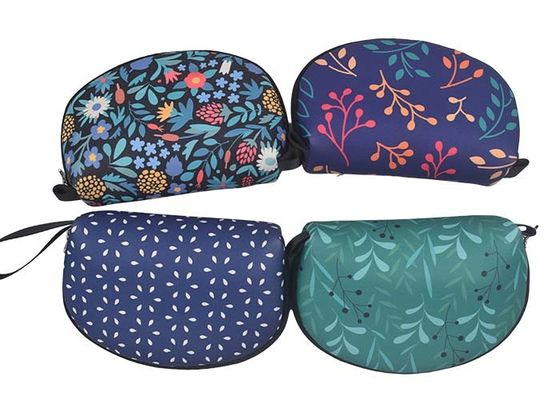 Mini Shell Zippered Cosmetic Bag Personalized Full Heat Transfer Printing