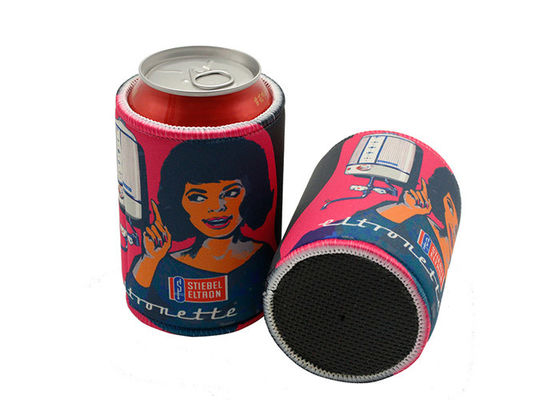 Promotional Custom Printed Insulated 5mm Tickness Neoprene Beer Can Cooler Sleeve
