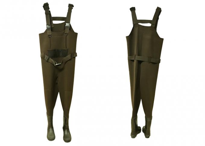Fly Neoprene Fishing Waders Warm Customized Eco Friendly In Green Color